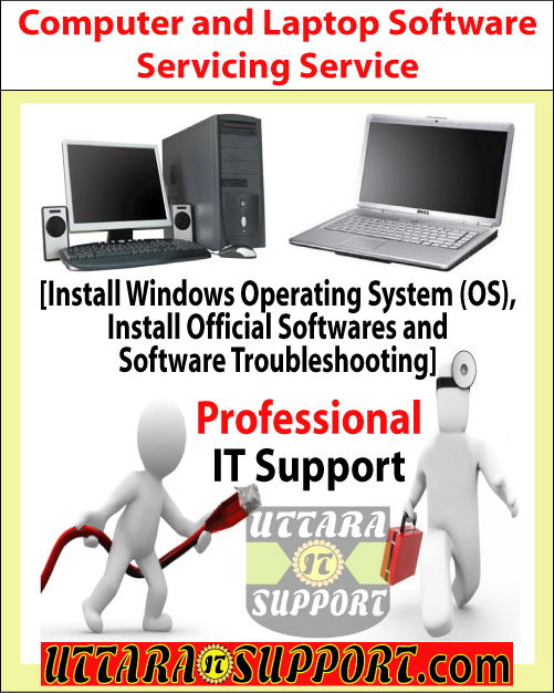 Computer and Laptop Software Servicing Service