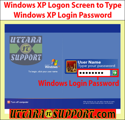 windows xp logon screen to type windows xp login password, windows xp, logon screen, windows xp logon screen, windows xp login password, type windows xp login password