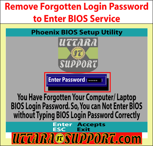 Remove Forgotten Login Password to Enter BIOS Service