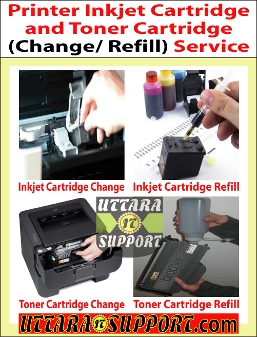 Printer Ink Cartridge and Toner Cartridge Change/ Refill Service